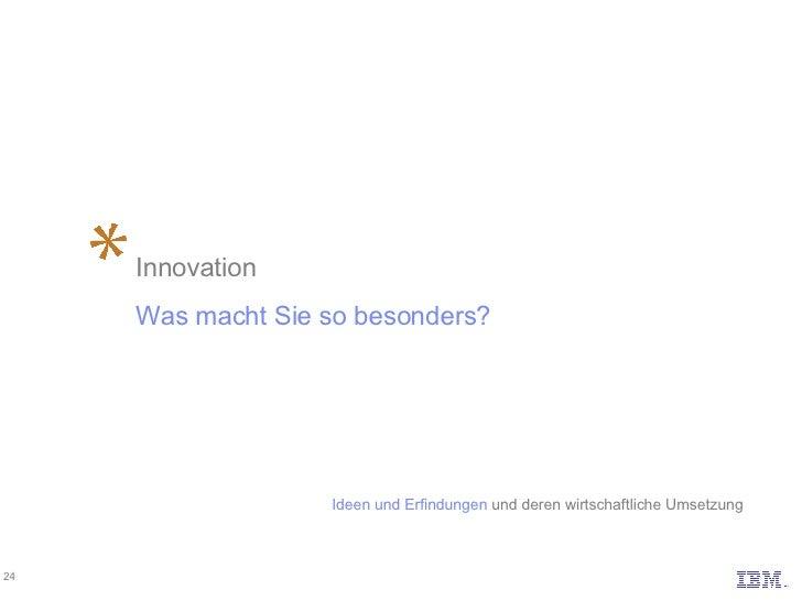 Innovation Was macht Sie so besonders? Ideen und Erfindungen und deren wirtschaftliche Umsetzung