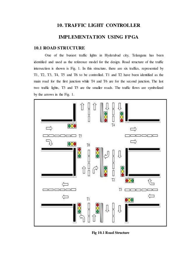 design of FPGA based traffic light controller system