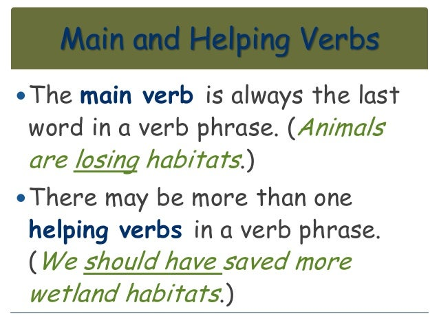 Main and helping verbs lesson – Main and Helping Verbs Worksheet