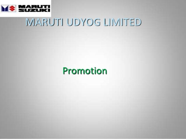 MARUTI UDYOG LIMITED Promotion