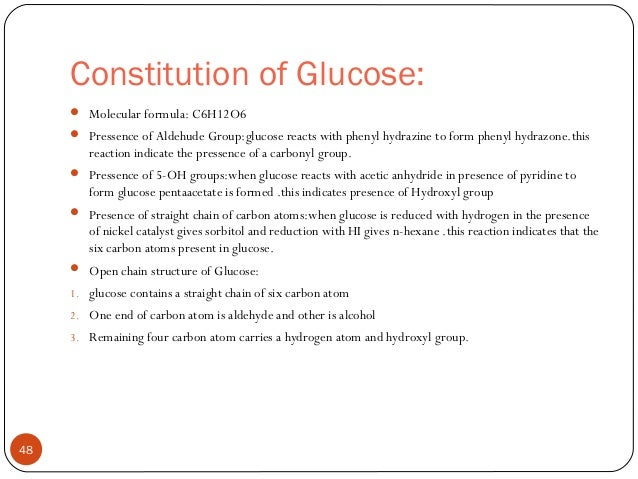 Carbohydrate chemistry glucose ethylalcohol 47 48 constitution of glucose molecular formula publicscrutiny Gallery