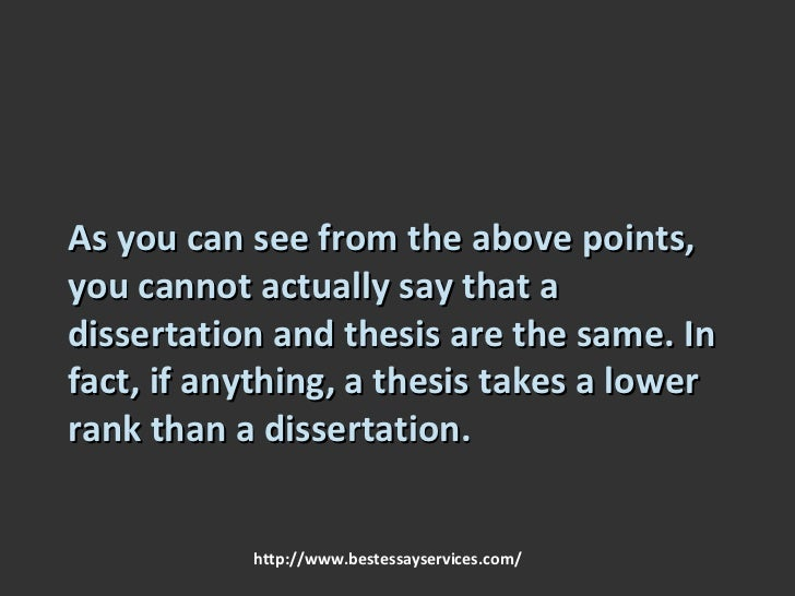Dissertation thesis 8 basic differences