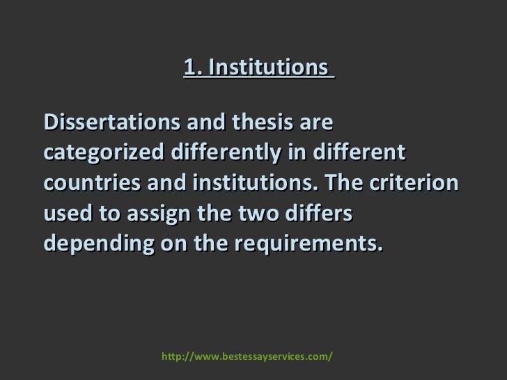 diferences thesis dessertation