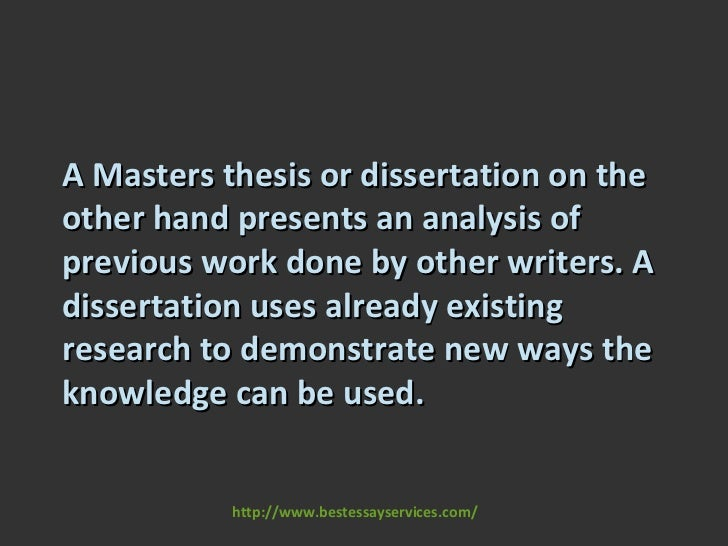 difference between dissertation and thesis in uk Many people are confused what actually the difference between a dissertation and a thesis is the features that distinct a dissertation from a thesis might are not completely indistinguishable.