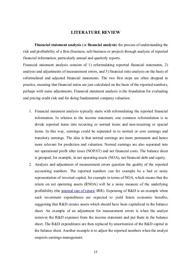 research paper on financial performance analysis pdf