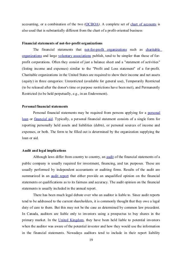 financial statement analysis report pdf