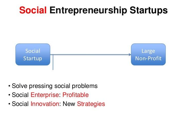 Social Entrepreneurship Startups Social Large