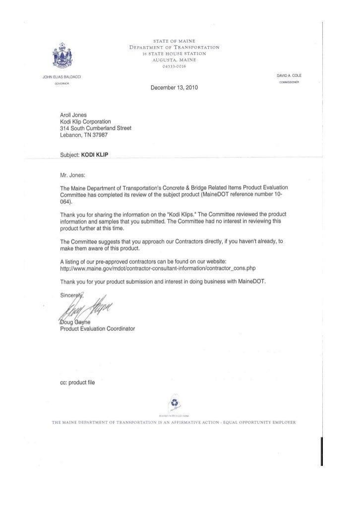 Maine dot statement doc
