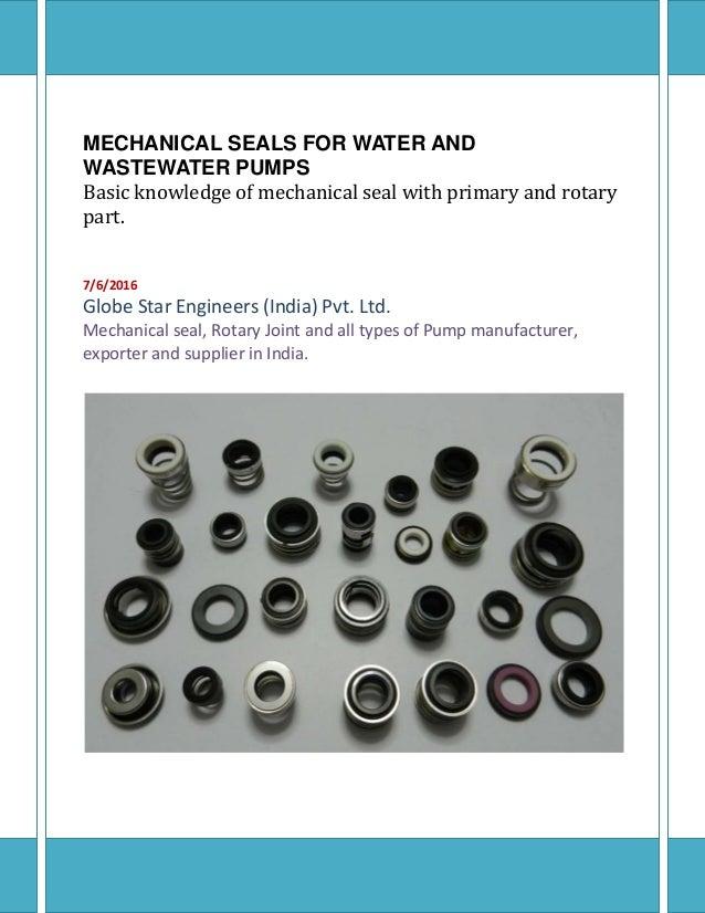 Main elements of a mechanical seals