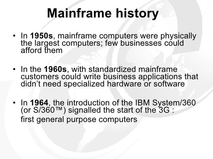 short note on mainframe computer