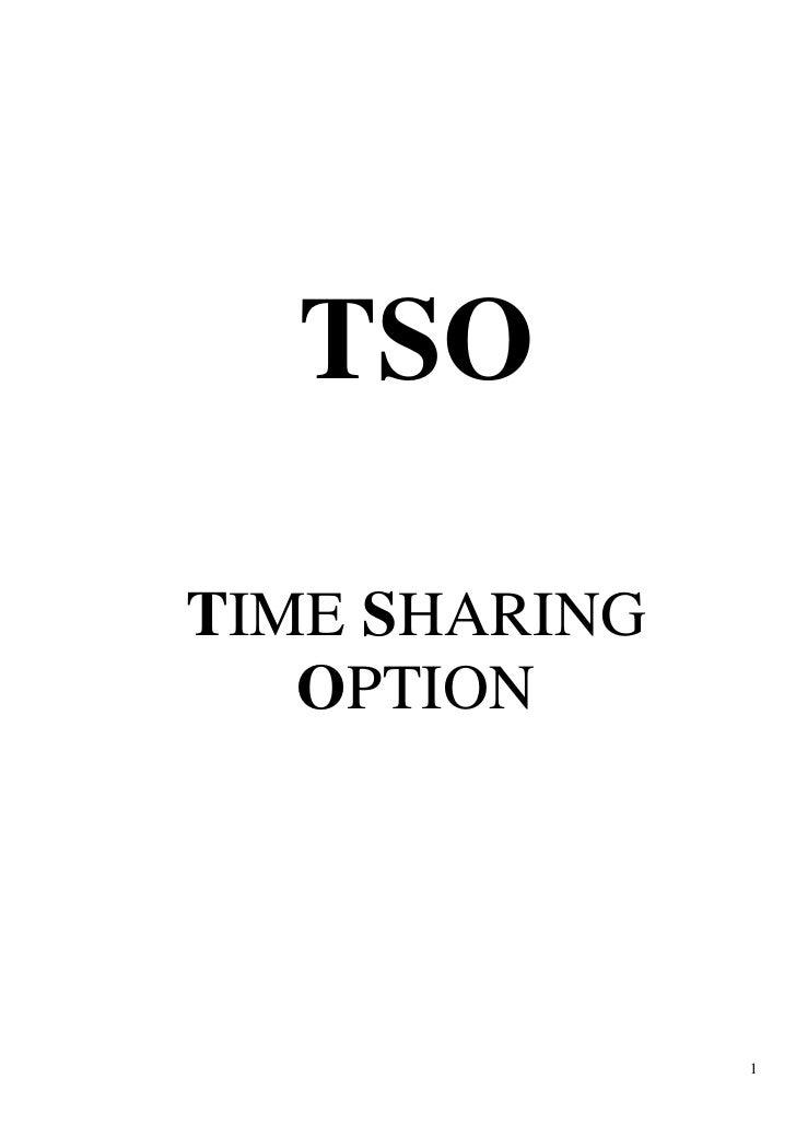 TSO  TIME SHARING    OPTION                    1