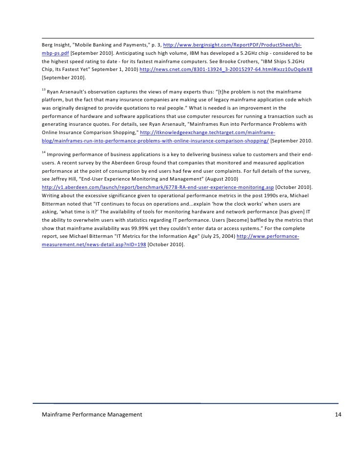HCLT Research Paper: Mainframe Performance Management