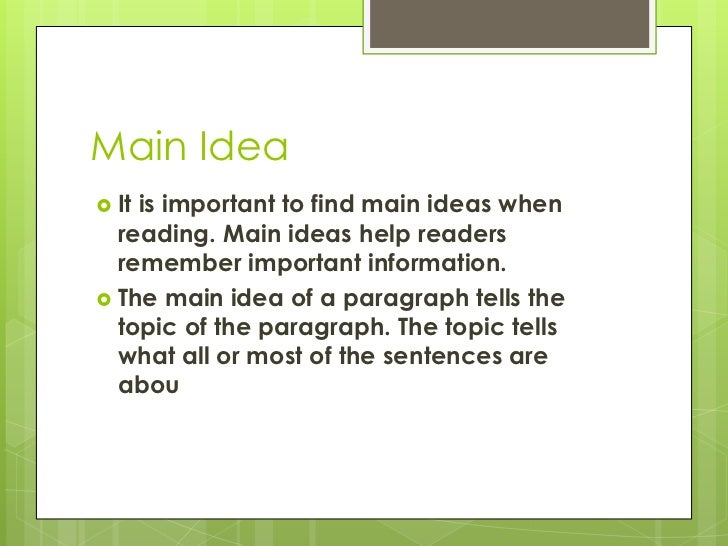 Main idea and detail power point – Main Idea Worksheets Middle School
