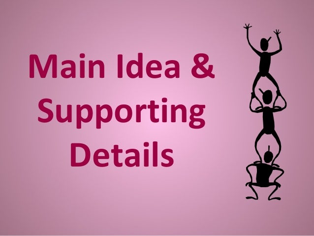 The main idea & supporting details (powerpoint) by neal sehgal | tpt.