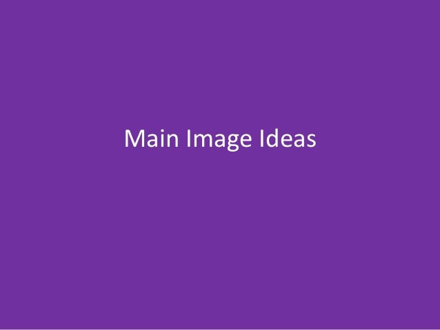 Main Image Ideas