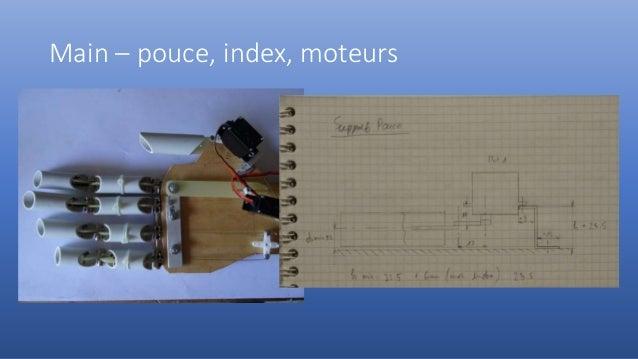 Main – pouce, index, moteurs