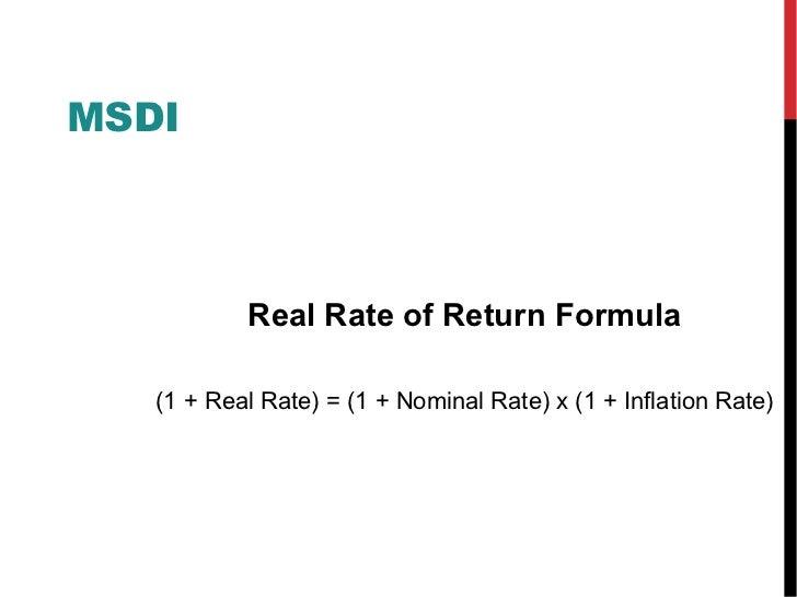 Real Rate of Return Calculator