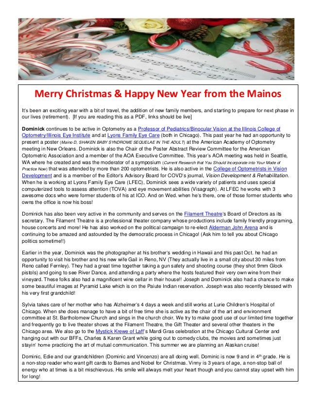 Merry Christmas & Happy New Year from the Mainos It's been an exciting year with a bit of travel, the addition of new fami...