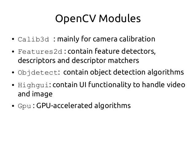 OpenCV Workshop