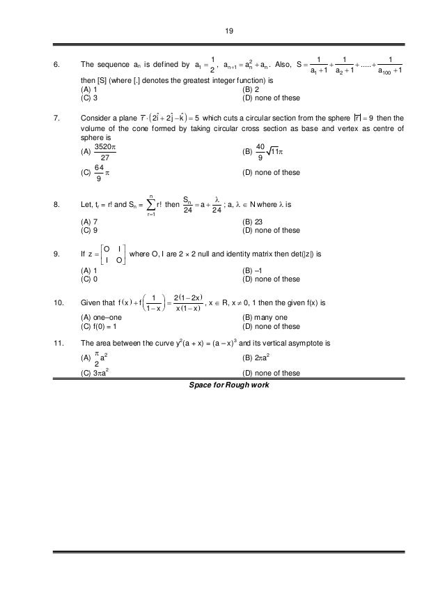 19 6. The sequence an is defined by 1 1 a 2  , 2 n 1 n na a a   . Also, 1 2 100 1 1 1 S ..... a 1 a 1 a 1       ...