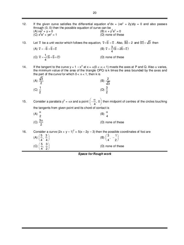 20 12. If the given curve satisfies the differential equation ey dx + (xey + 2y)dy = 0 and also passes through (0, 0) then...