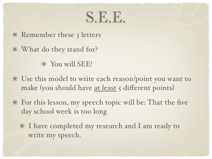 speech writing and main point It may also affect their ability to organize their writing or even their spoken speech check out these easy-to-follow steps for teaching a child to identify main ideas and supporting details from super easy to more complex (or point to) the main idea and underline (or point to) the details.
