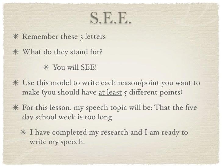 essay part of speech