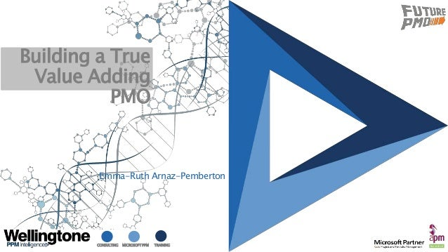CONSULTING MICROSOFT PPM TRAINING Building a True Value Adding PMO Emma-Ruth Arnaz-Pemberton