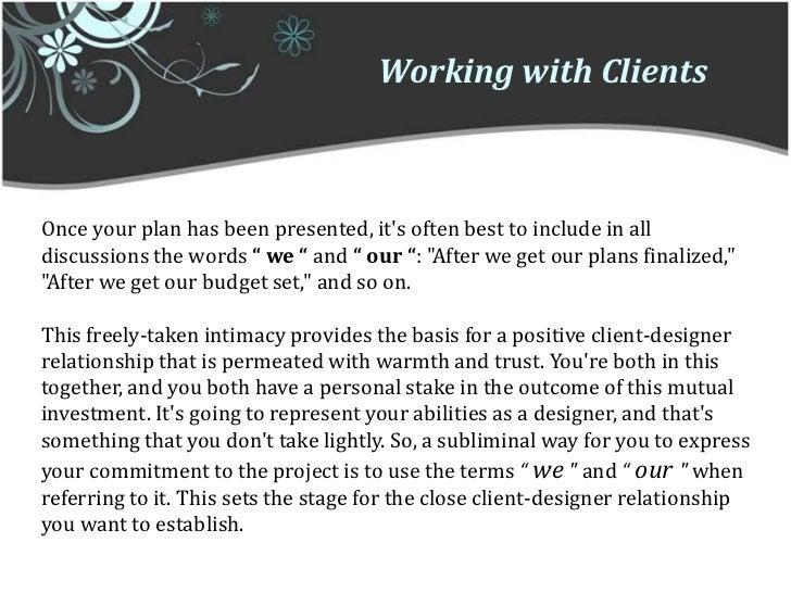 relationship between client and interior designer