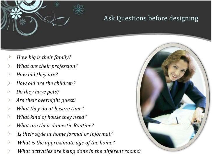 Ask Questions Before Designingu003cbr ...