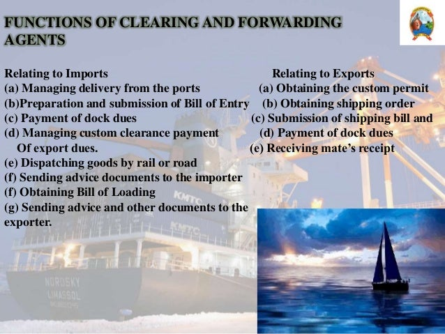 clearing and forwarding agents ppt