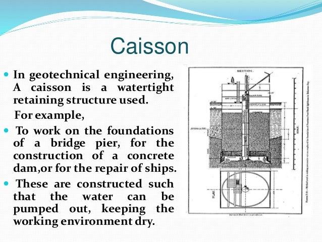 My Presentation Slide Of Retaining Wall Cofferdam And Caisson