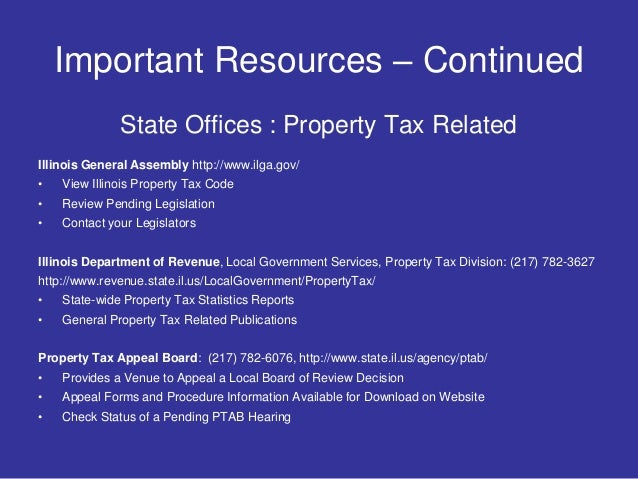 Illinois Property Tax Appeal Board Forms