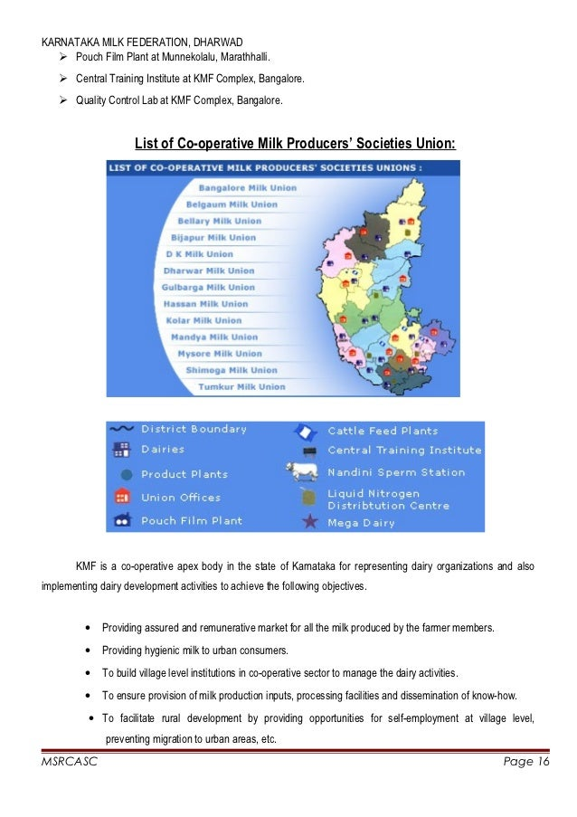 Project report on tumkur milk union