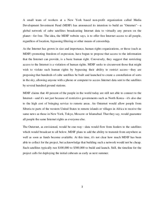 Outernet Main report
