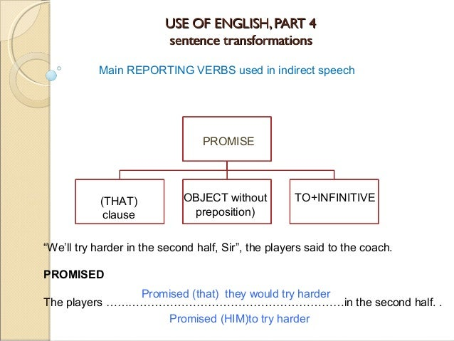 "reporting verb Reporting verbs are verbs that we use to communicate people's ideas, actions, intentions, etc they are similar to ""say"", ""tell"" or ""ask"" in general reported/indirect speech however, these verbs usually convey not only a message, but also an intention, feeling, idea, etc what follows is a classification of verbs according to the."