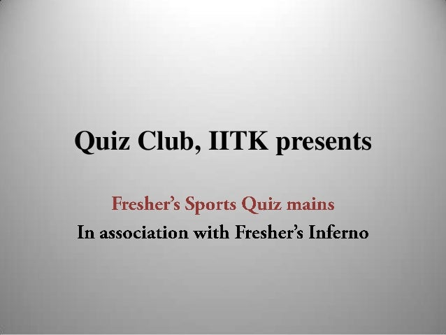 Quiz Club, IITK presents