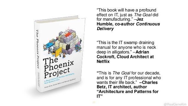 ―This book will have a profound effect on IT, just as The Goal did for manufacturing.‖ –Jez Humble, co-author Continuous D...