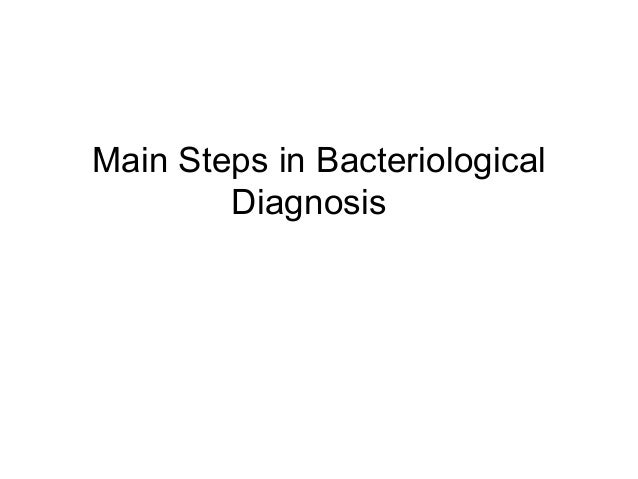 Main Steps in Bacteriological  Diagnosis