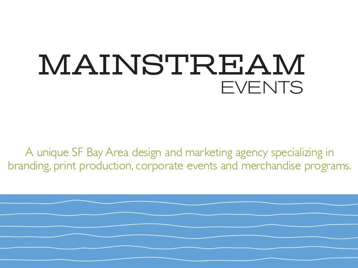 A unique SF Bay Area design and marketing agency specializing in branding, print production, corporate events and merchand...