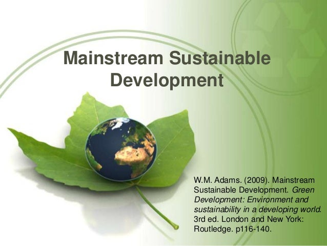 how to create a sustainable development