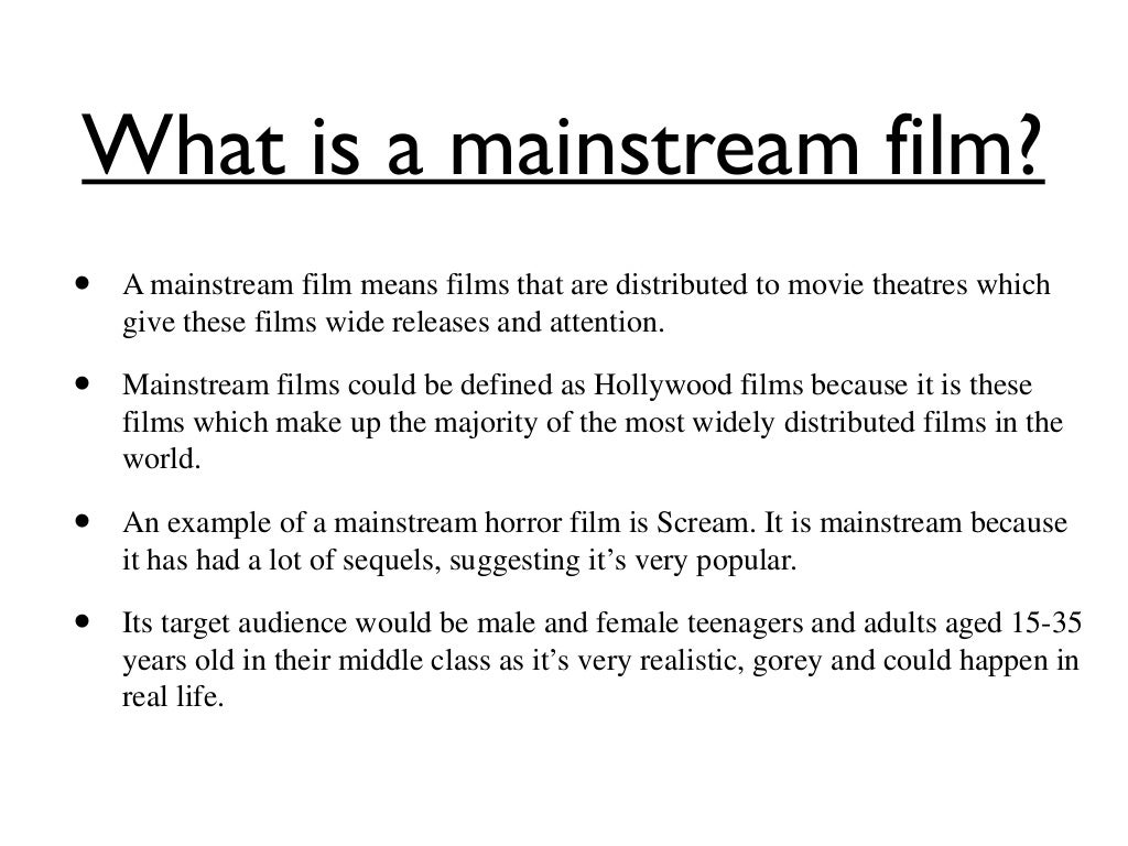 What is mainstream 5