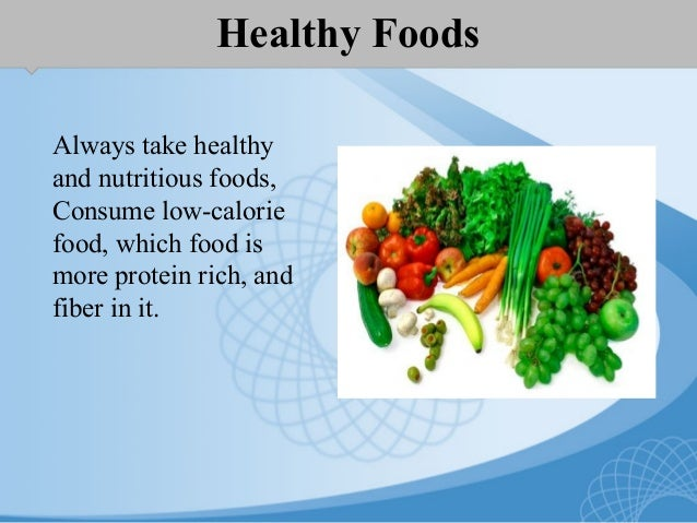 how to take healthy diet