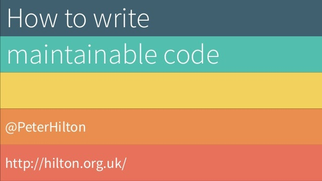 @PeterHilton http://hilton.org.uk/ How to write 