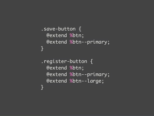 .c-button--primary {  $primaryColor: #F31;  background-color: $primaryColor;  :hover {  background-color: mix($primaryColo...