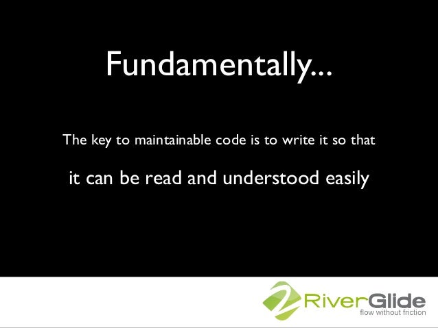 Maintainable code Slide 3