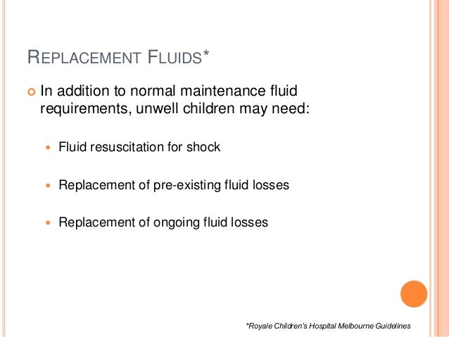 24 hour fluid replacement guidelines