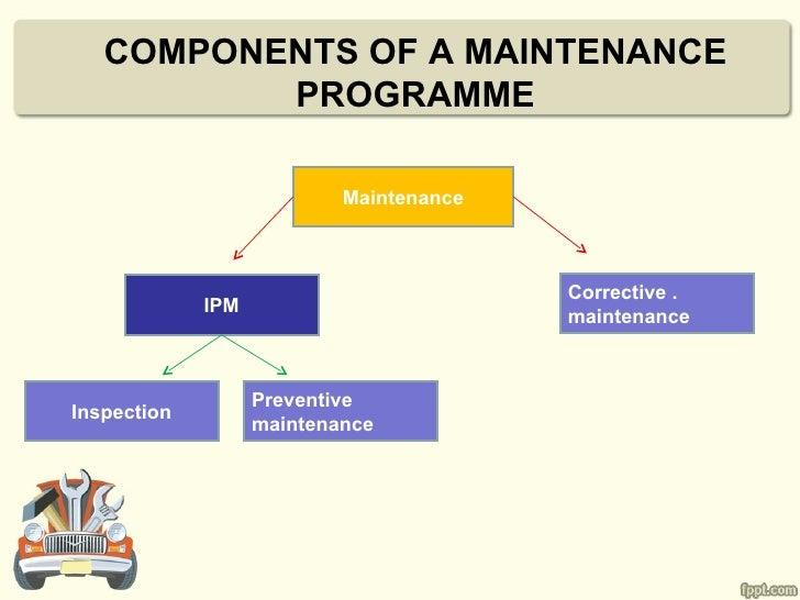 COMPONENTS OF A MAINTENANCE          PROGRAMME                           Maintenance                                      ...
