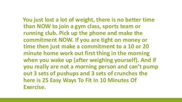 30 seconds to victory weight loss