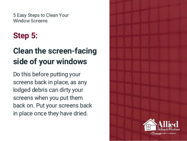 Maintaining Your Window Screens